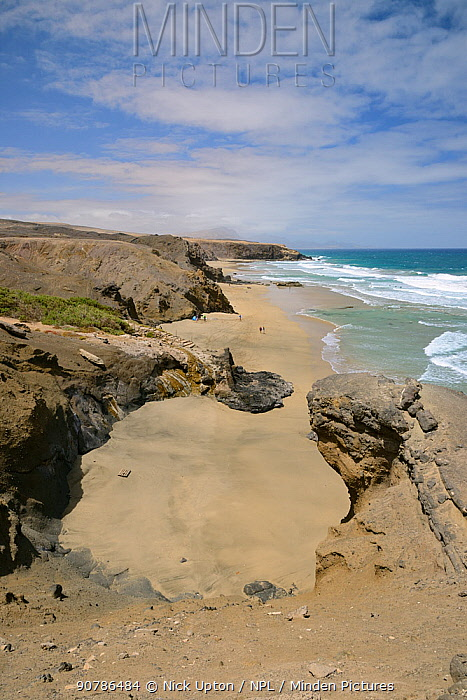 La Pared beach, Fuerteventura, Canary Islands, May.