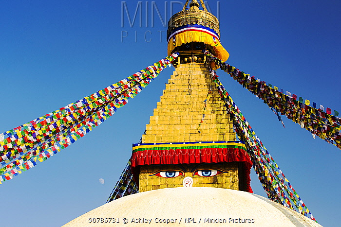 The Boudanath Stupa, is one of the holiest Buddist sites in Kathmandu, Nepal, December 2012.
