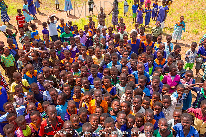 Large group of children displaced by the January 2015 flooding, Baani refugee camp near Phalombe, Malawi, March 2015.