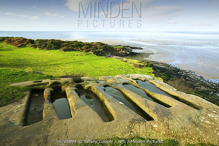 Ancient Stone graves at Heysham, Lancashire, England, UK, January 2006.