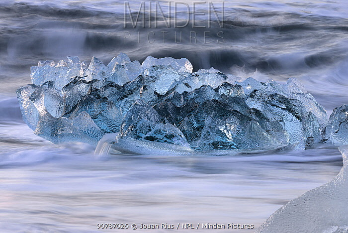 Ice in the sea, Jokulsarlon, southern Iceland, February 2015