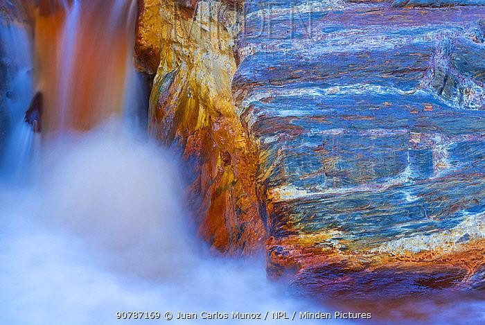 Long exposure of Rio Tinto - Red River, Sierra Morena, Gulf of Cadiz, Huelva, Andalucia, Spain. January 2017.