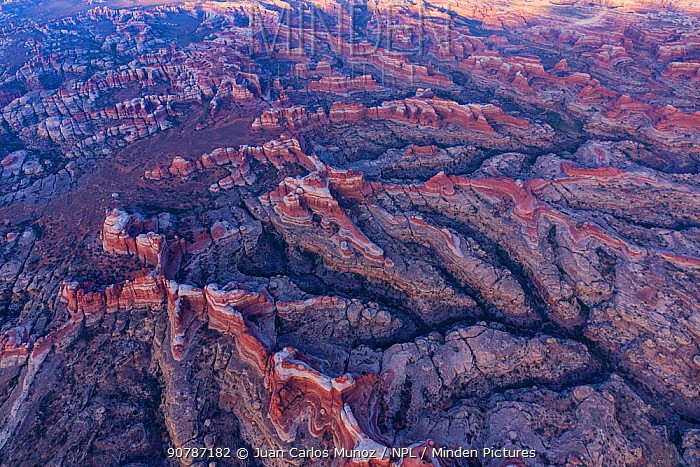 Aerial view of Canyonlands National Park, Utah, USA, September 2017.