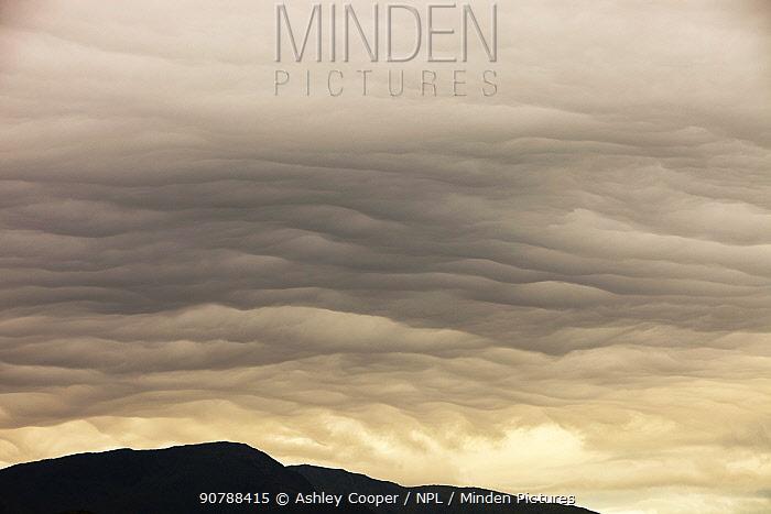 Storm clouds over Ambleside, Cumbria, England, UK. June 2011