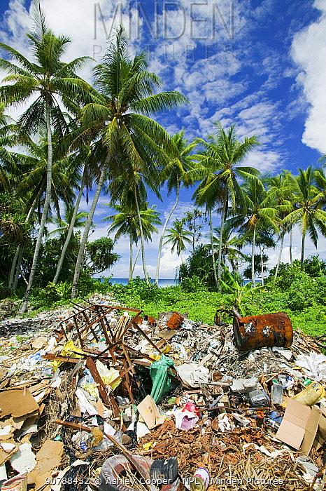 Rubbish on Funafuti Atoll, Tuvalu. March 2007