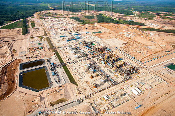 A brand new Tar sands plant being constructed north of Fort McMurray, Alberta, Canada. August 2012