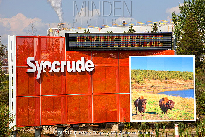 The Syncrude upgrader plant for processing tar sands to create synthetic oil. Alberta, Canada. August 2012