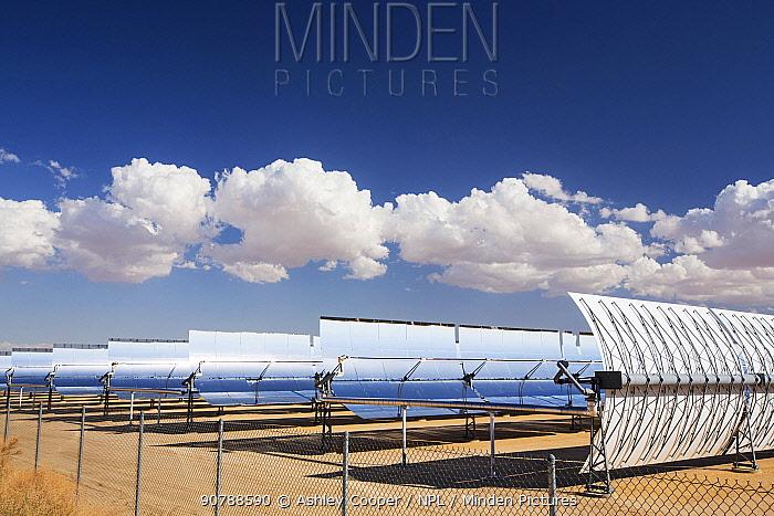 SEGS plant at Kramer Junction, the second largest solar thermal power plant in the world, mojave Desert, California, USA. September 2014