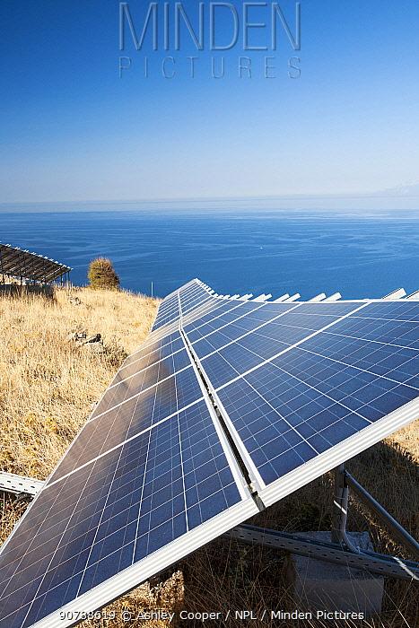 A solar power station on Lemnos, Greece. September 2012