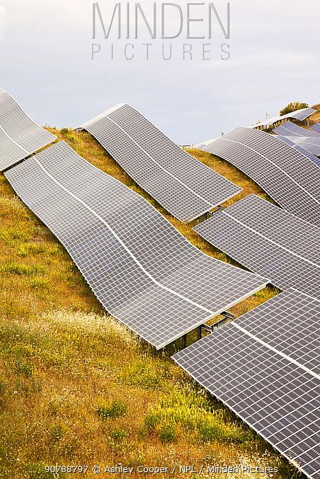 Photo voltaic solar power station near Lucainena de las Torres, Andalucia, Spain. May 2011