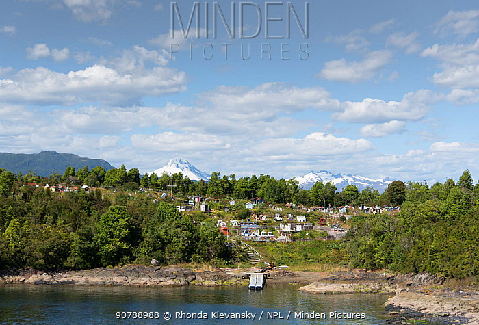 Puerto Aguirre cemetery, Patagonia fjords, Chile, February 2016.