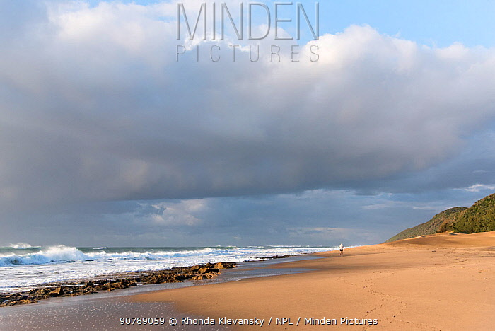 Cape Vidal beach in early morning,  iSimangaliso Wetland Park UNESCO World Heritage Site, and RAMSAR Wetland. South Africa, August 2017.