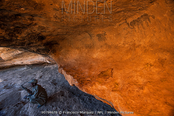 Prehistoric cave paintings in caves close to Harar. Lega Oda, Ethiopia