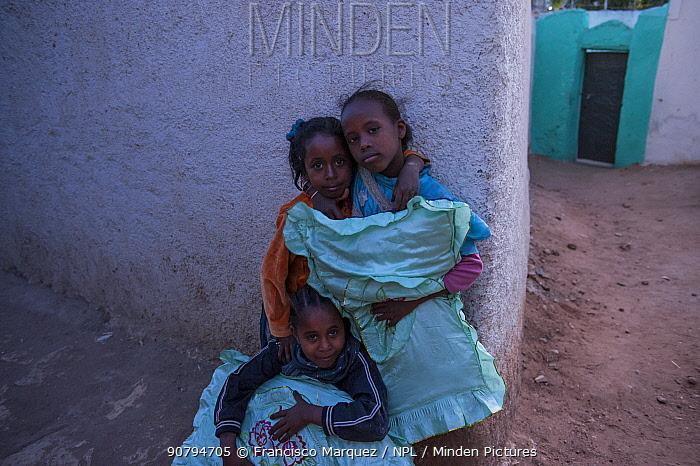Children in the City of Harar, Ethiopia. February 2008.
