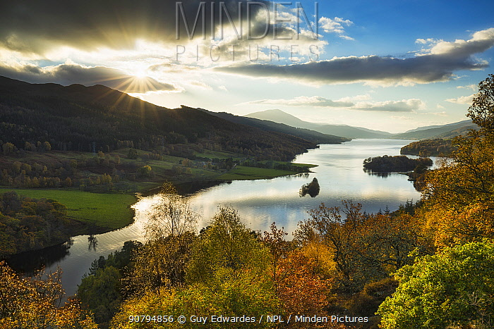 Queen's View, Loch Tummel, Perthshire, Scotland, UK. October, 2014.