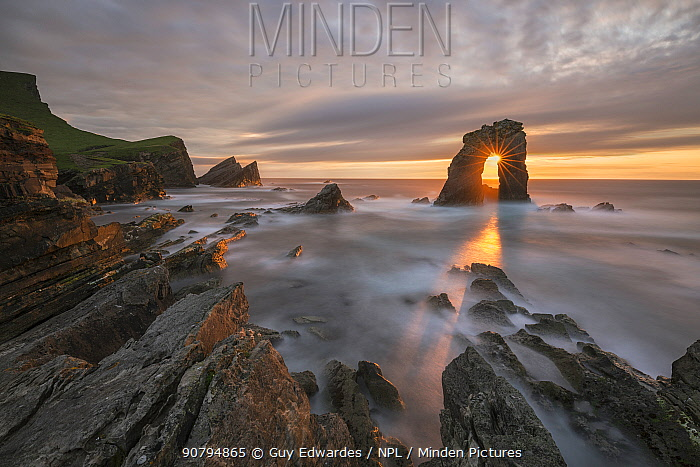 Gaada Stack, Foula, Shetland, Scotland, UK. August, 2014.