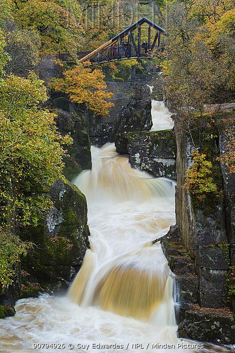 Bracklinn Falls, Callander, Stirlingshire, Scotland, UK. October 2013.