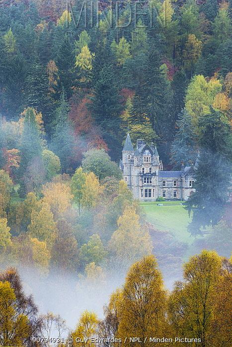 Bonskeid House, traditional Scottish country house, Linn of Tummel, Pitlochry, Perthshire, Scotland, UK. October 2013.