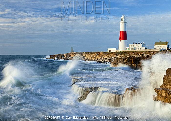 Portland Bill Lighthouse, Isle of Portland, Dorset, England, UK. November 2011.
