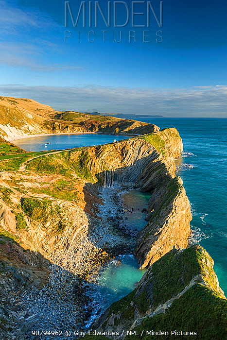Stair Hole and Lulworth Cove, West Lulworth, Isle of Purbeck, Dorset, England, UK. December 2014.