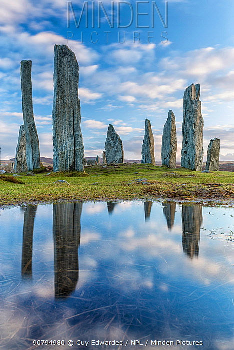 Callanish Standing Stones, Isle of Lewis, Outer Hebrides, Scotland, UK. March 2015.