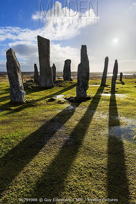 Callanish Stone Circle, Isle of Lewis, Outer Hebrides, Scotland, UK. March 2015.