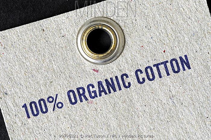 100% Organic Cotton printed on label