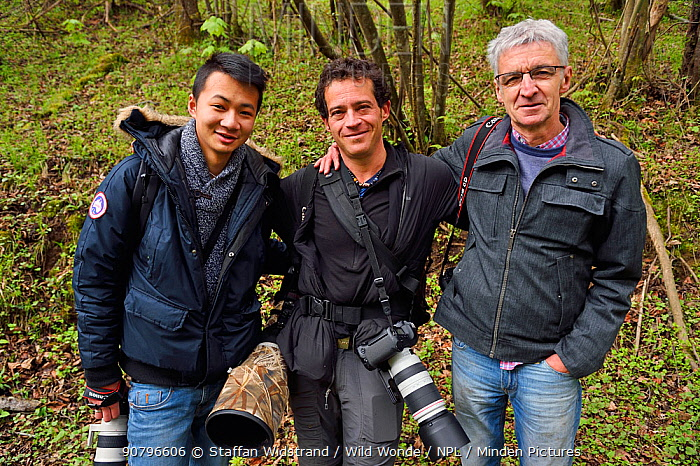 Journalism team at Tangjiahe National Nature Reserve,Qingchuan County, Sichuan province, China