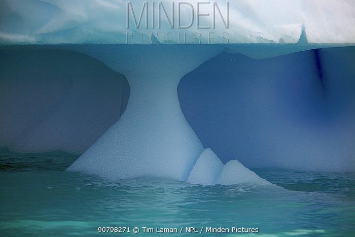 Iceberg showing wave erosion, Antarctica, January