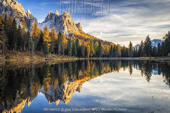 Lago d'Antorno and Cadini, Dolomites, Italy, October 2017.