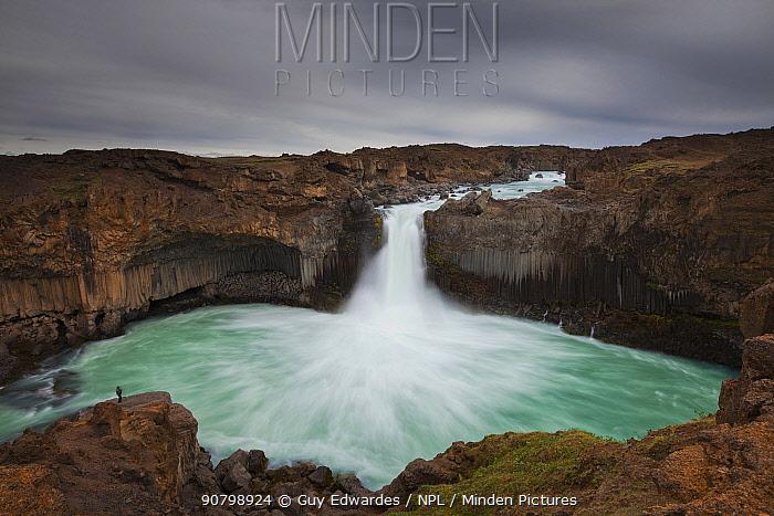 Aldeyjarfoss waterfall, Sprengisandur, Iceland. July 2012