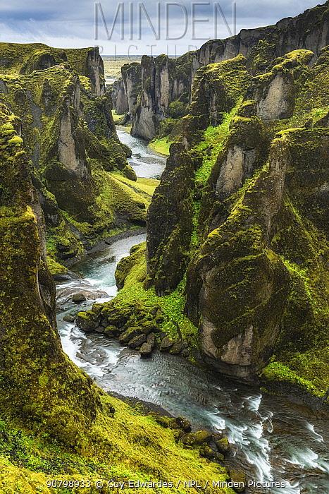 Fjaorargljufur canyon, Kirkjubaejarklaustur, Iceland, August 2017.