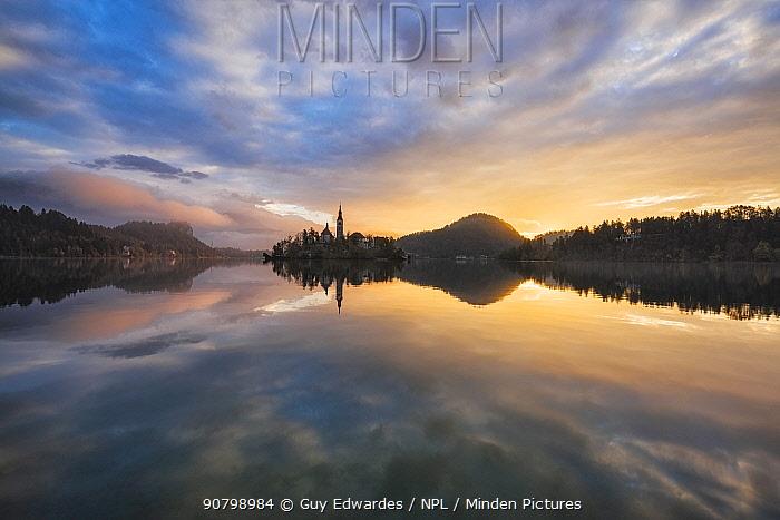 Lake Bled at sunrise, Slovenia, October 2014.