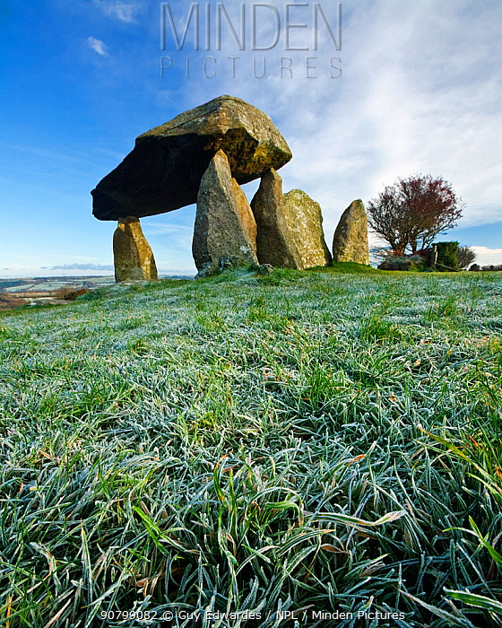 Pentre Ifan, a Neolithic burial chamber, Nevern, Pembrokeshire, Wales, UK. November 2008