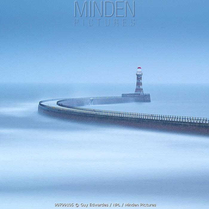 Roker Pier, Sunderland, Tyne & Wear, England, UK, May 2016.