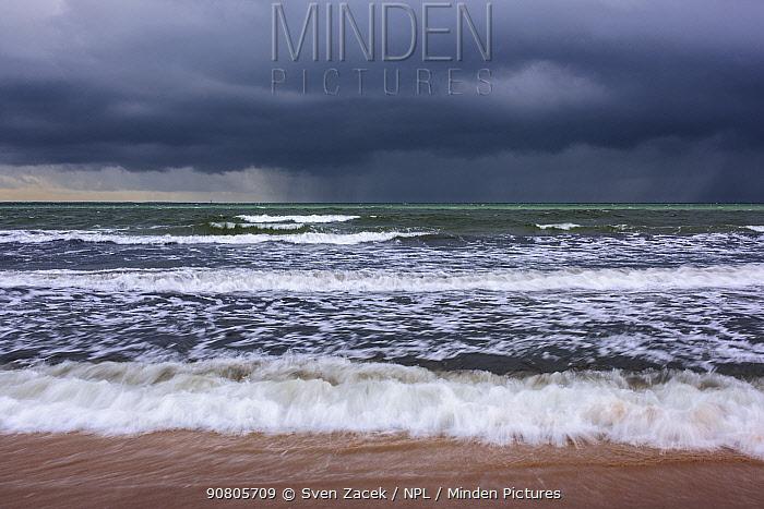 Baltic Sea in autumn storm. Vilsandi National Park, Saaremaa Island, Saaremaa, Western Estonia. November 2015.