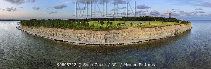 Panga Pank cliff at dawn, Saaremaa Island, Saaremaa, Western Estonia. July 2015.