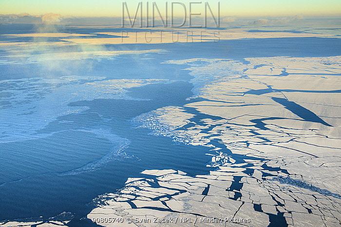 Formation of ice on Baltic Sea. Near Kihnu and Ruhnu Islands, Laanemaa, Western Estonia. January 2014.