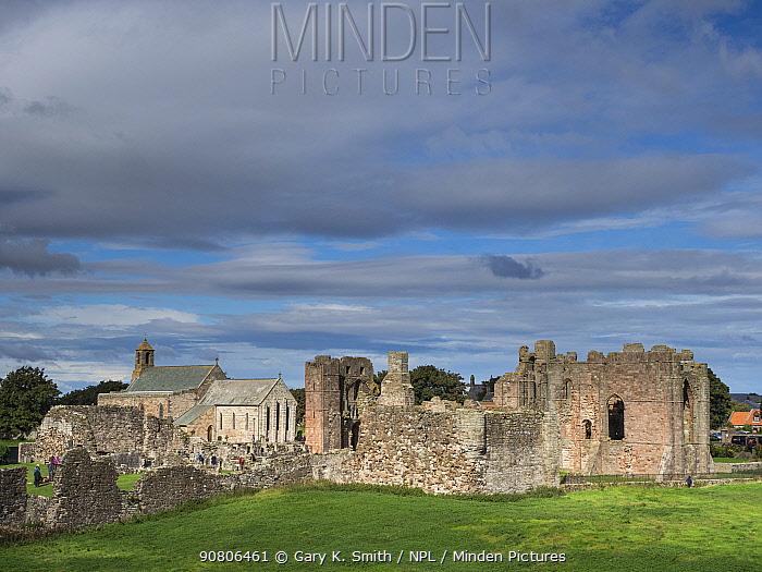 Lindisfarne Priory, Northumberland, England, UK. September 2017.
