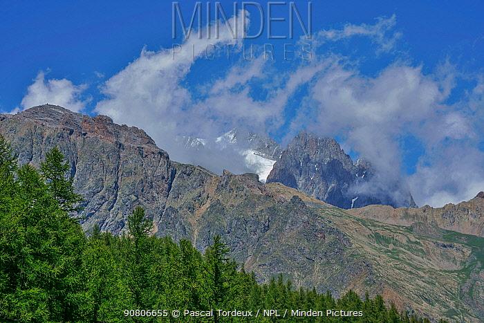 Mountain landscape, Puy Saint Vincent, Hautes alpes, France, August 2018.