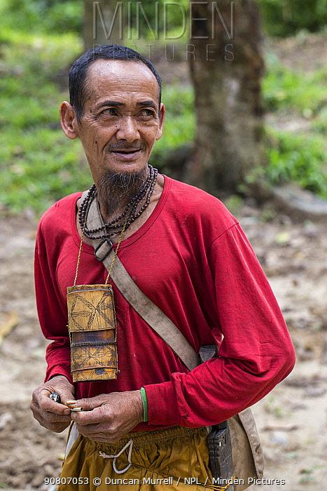 Indigenous Palawano man, South Palawan, the Philippines. August 2016