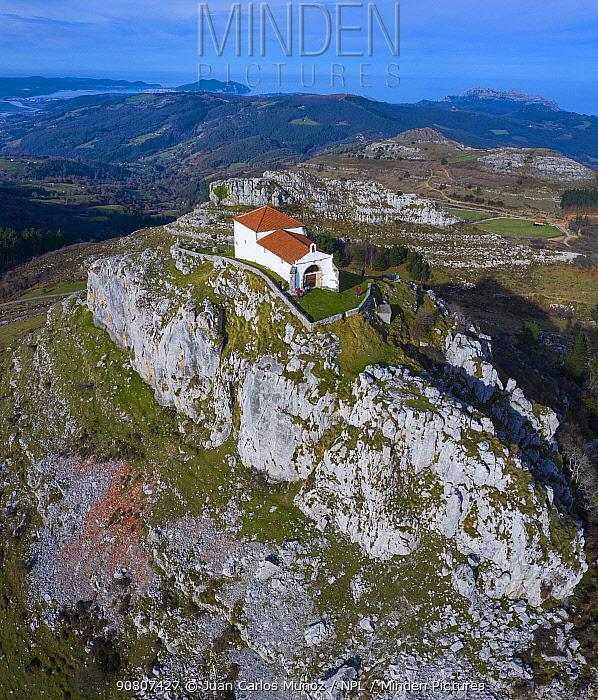 Hermitage of the Virgen de las Nieves / Ermita de las Nieves, Guriezo Municpality, Cantabria, Spain. December 2018.