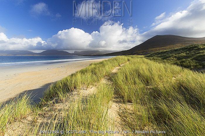 Dunes and beach, Luskentyre, Isle of Harris, Scotland, UK, September.