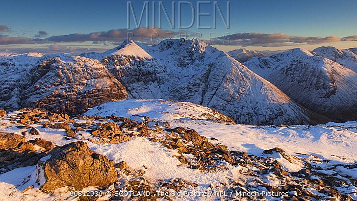 Bidean nam Bian in winter, Glen Coe, Scotland, UK. February.