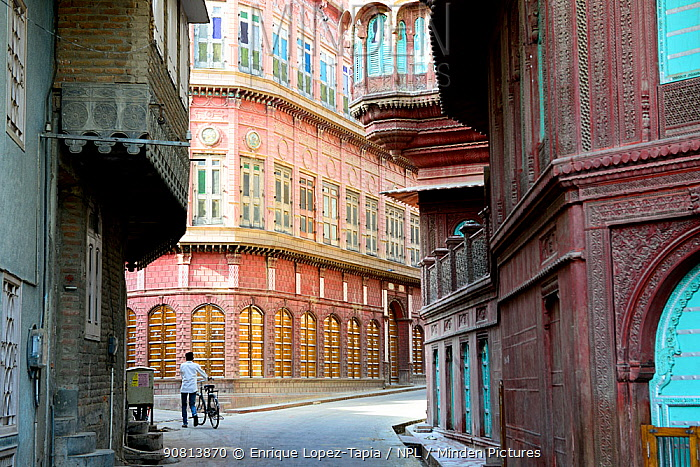 Havelis in Old city, Bikaner, Rajasthan, India, October 2018.