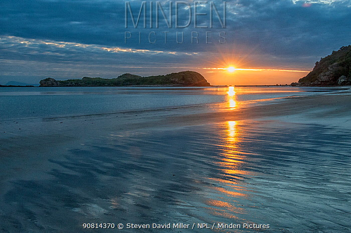 Sunrise over Wedge Island, Cape Hillsborough National Park, Queensland, Australia. September