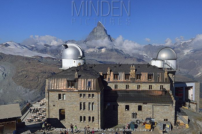 Observatory of Gornergrat, Mont Cervin, Matterhorn, Swiss Alps, Valais, Switzerland, September 2018.