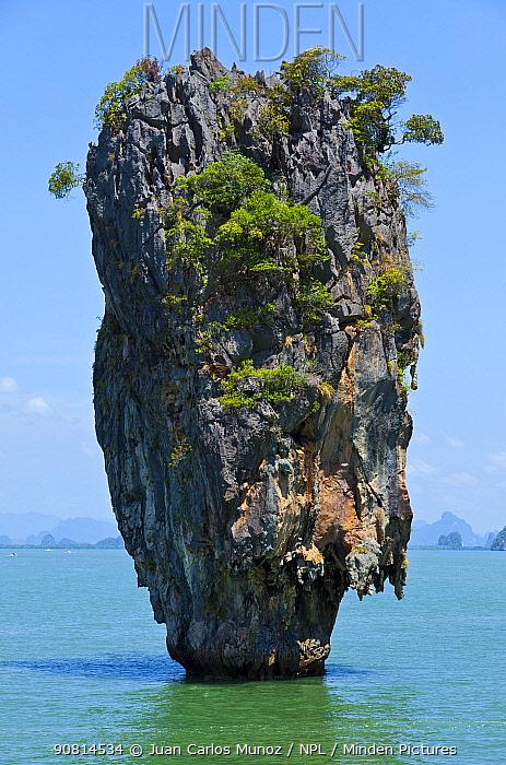 Ko Tapu Island - James Bond Island. Phang Nga Bay, Andaman Sea, Thailand,