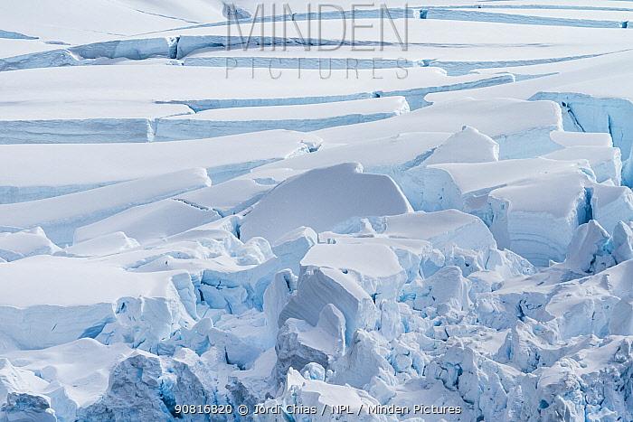 Ice breaking up in Paradise Bay, Antarctic Peninsula, Antarctica.