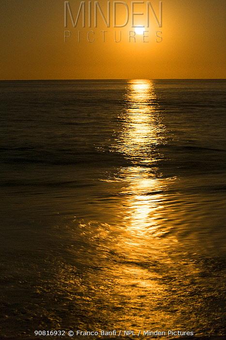 Sunset at El Arbolito beach, Cabo Pulmo Marine National Park, Baja California Sur, Mexico